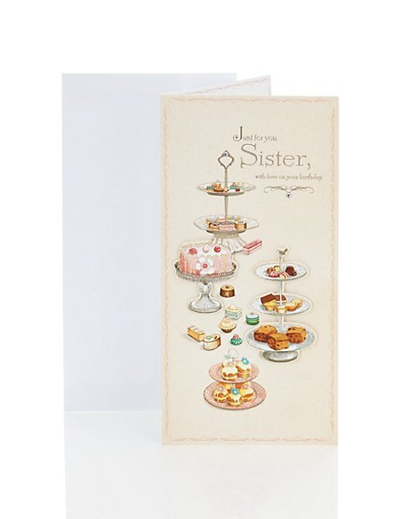 Sister Cakes Birthday Card