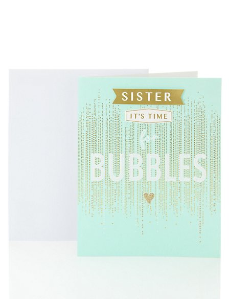 Celebration Card Open Occasion for Sister