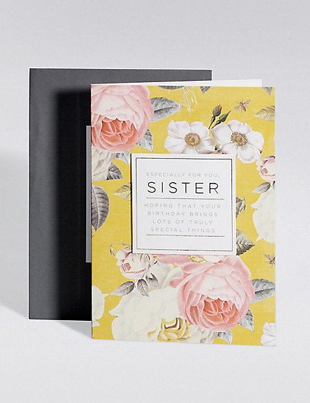 Traditional Floral Sister Birthday Card