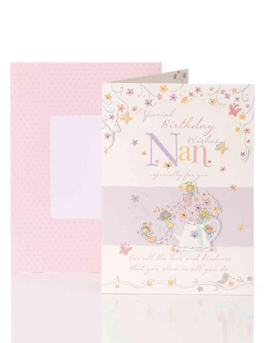 Nan Tiny Fairies Birthday Card