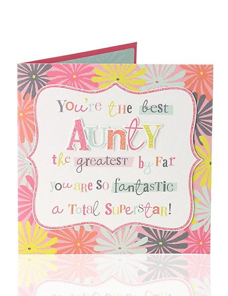 Product Images Skip Carousel Aunty Superstar Birthday Card