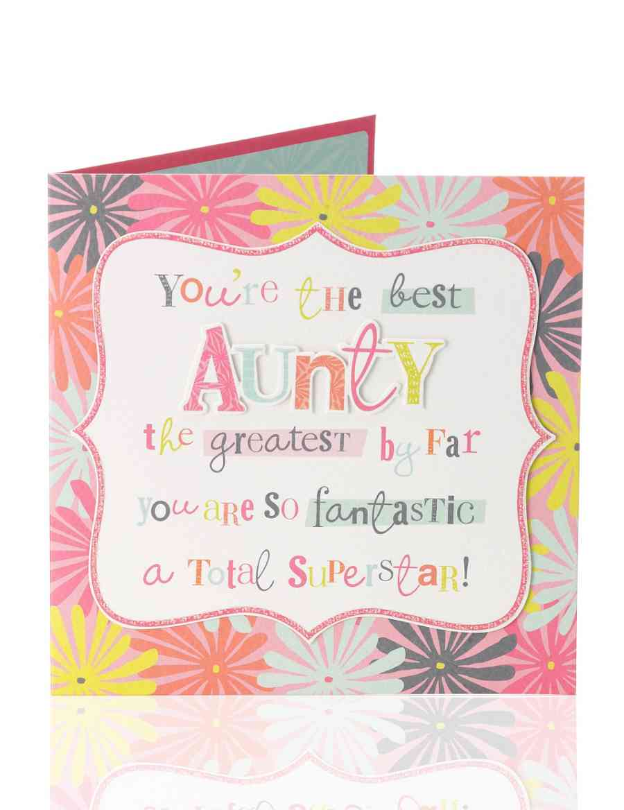 Aunty Superstar Birthday Card