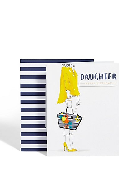 Daughter Fashion Card