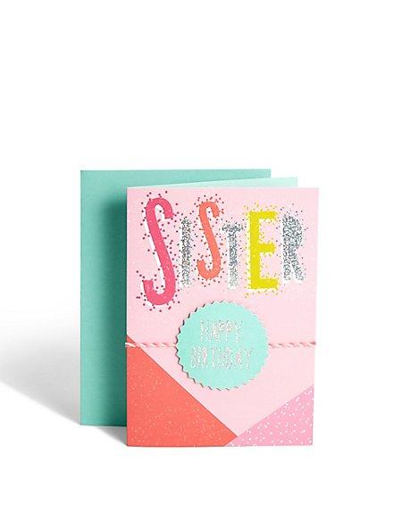 Sister Text Birthday Card