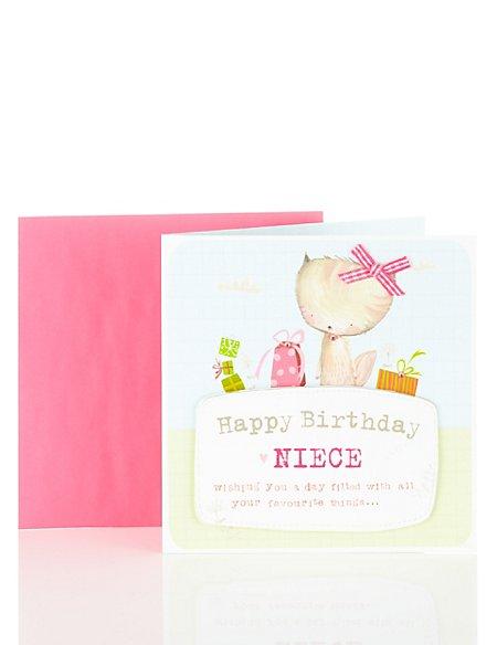 Happy Birthday Niece Cat Card Ms