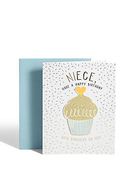 Niece Cupcake Birthday Card