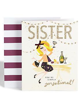 Dotty Daisy Sensational Sister Card