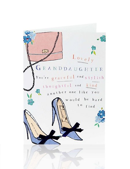 Granddaughter Fashion Birthday Card Ms