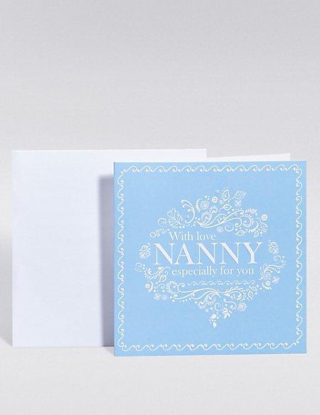 Blue Nanny Card