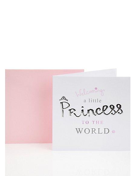 Little Princess Baby Girl Greetings Card