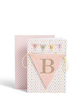 Greeting cards occasion cards ms new baby girl bunting card m4hsunfo