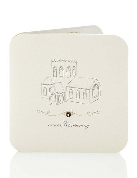 Flitter Christening Card