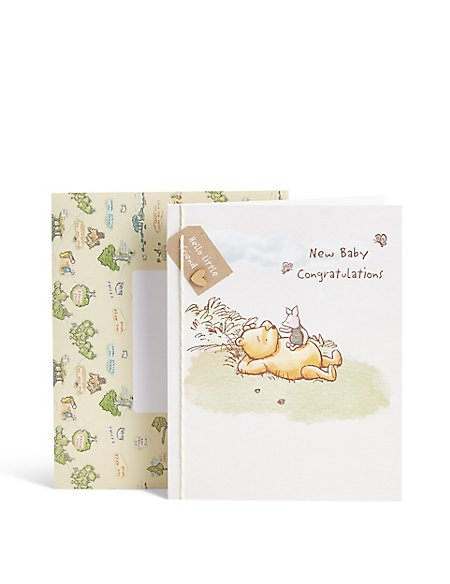 Winnie the Pooh New Baby Congratulations Card