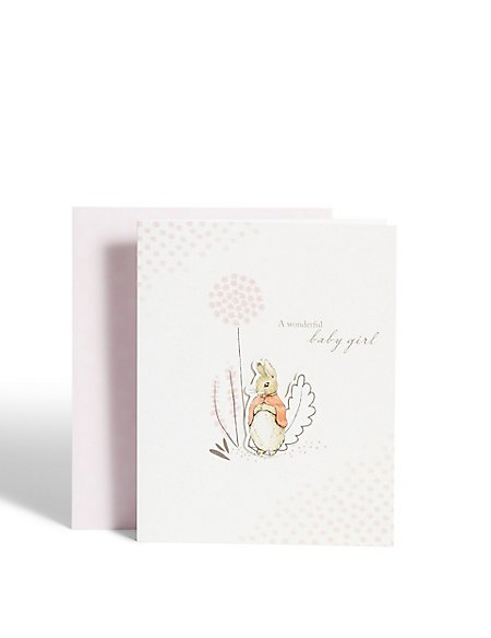 Peter Rabbit™ New Baby Girl Card
