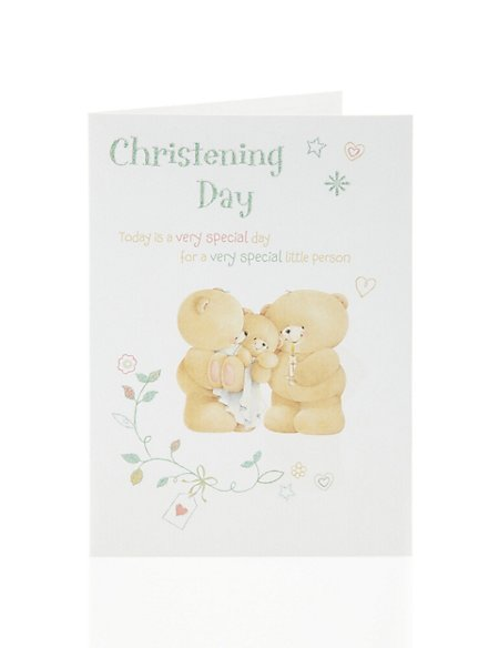 Forever Friends Christening Day Card