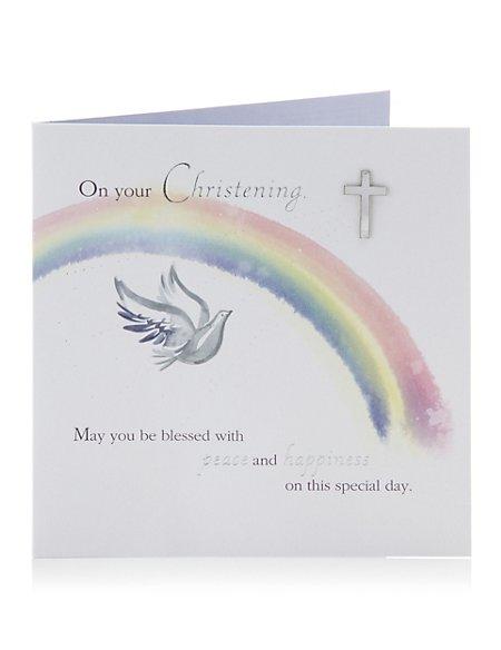 Rainbow Christening Card