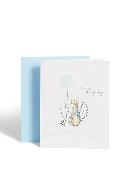 Peter Rabbit™ New Baby Boy Card