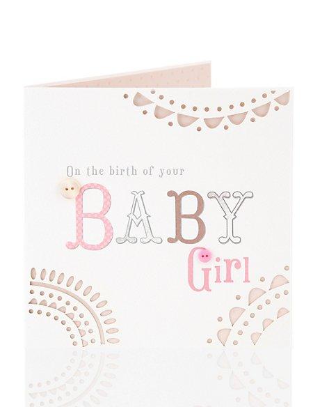 Embossed baby girl greetings card ms embossed baby girl greetings card m4hsunfo