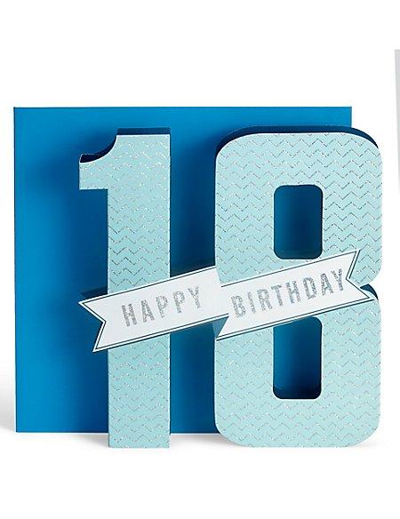 3D Pop-Up 18th Birthday Card