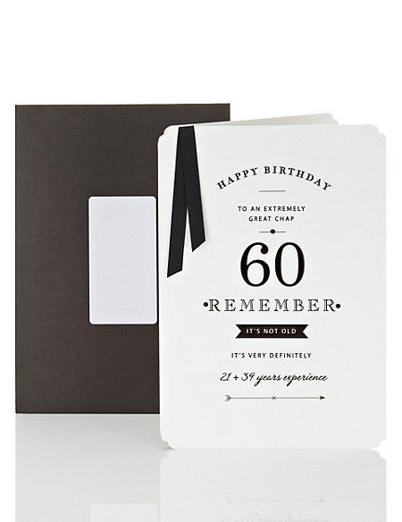Men's 60th Birthday Card