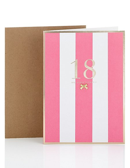 Colourful Striped 18th Birthday Card