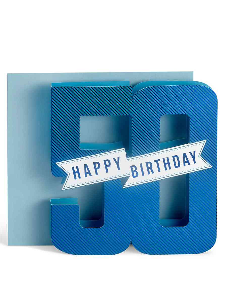 3D Pop Up 50th Birthday Card