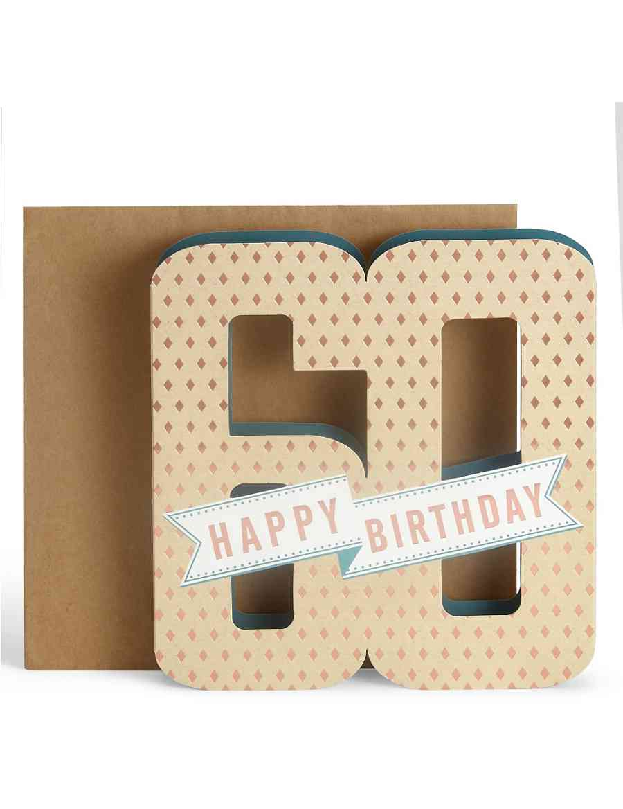 3D Pop Up 60th Birthday Card
