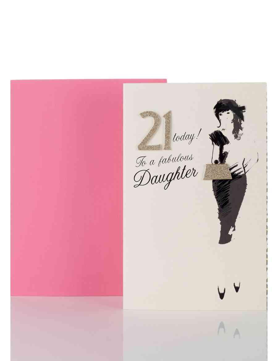 Stylish Dress Daughters Age 21 Birthday Card