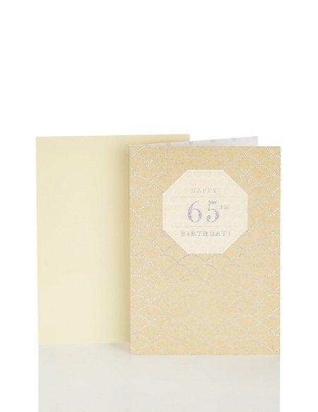 65th Birthday Silver Craft Card