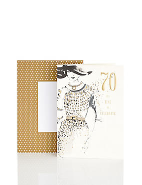 70th Birthday Sophisticated Lady Card