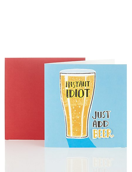 Just Add Beer Birthday Card Ms