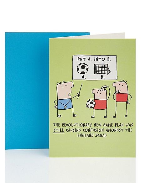 A into B Birthday Greetings Card