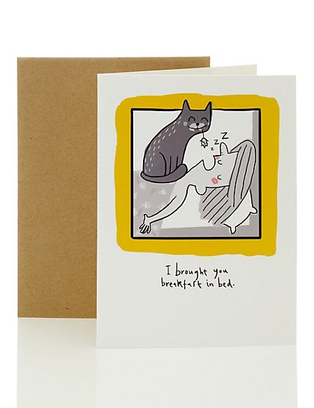 Breakfast in Bed Blank Card