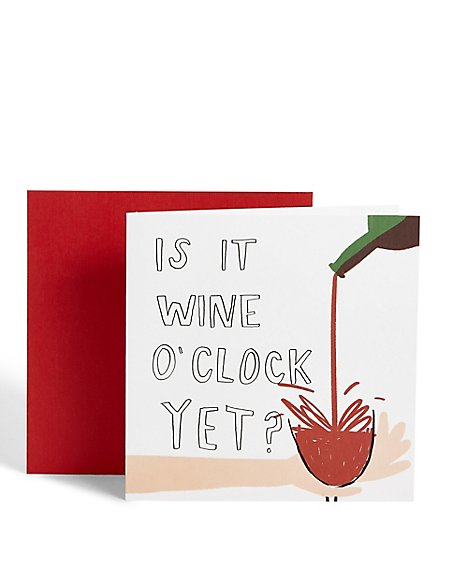 Wine O'clock Card