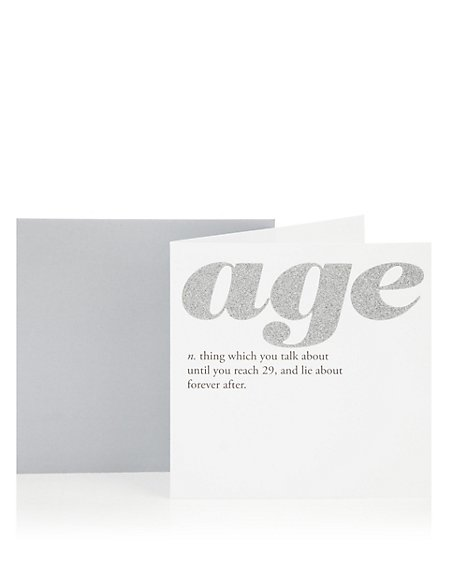 Age definition birthday greetings card ms age definition birthday greetings card m4hsunfo