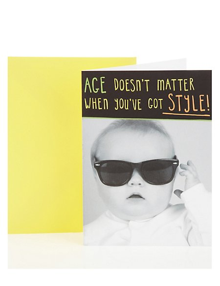Baby Style Birthday Greetings Card
