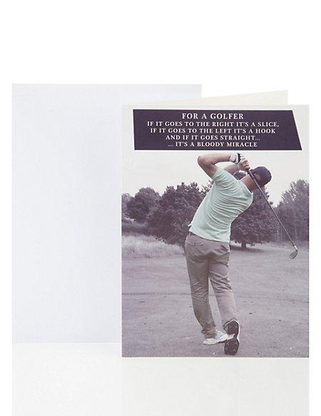For A Golfer Birthday Greetings Card