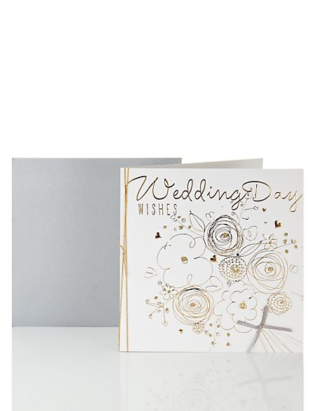 Luxury Foil Wedding Day Wishes Card