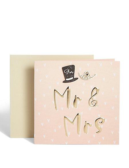 Hat and Tiara Wedding Card