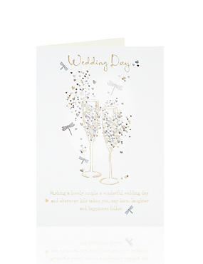 4 and above greeting cards ms gold champagne wedding card m4hsunfo