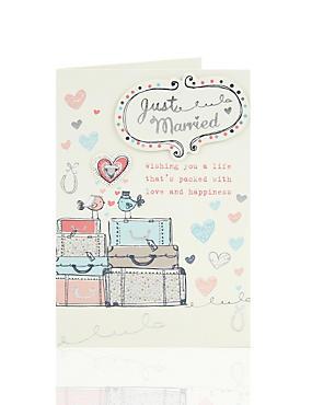 Cute Birds Wedding Day Card