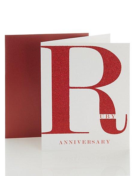 Open Recipient Ruby Wedding Anniversary Card