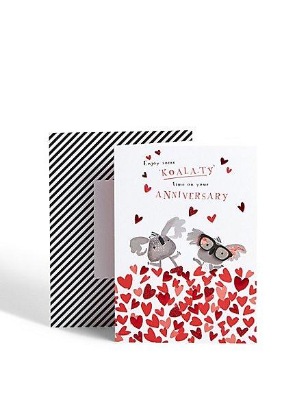 Koala Anniversary Card