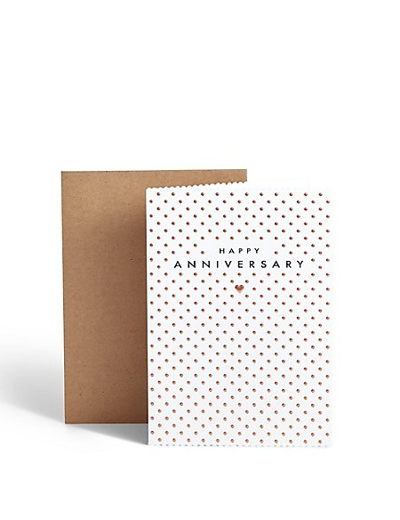 Dotted Anniversary Card