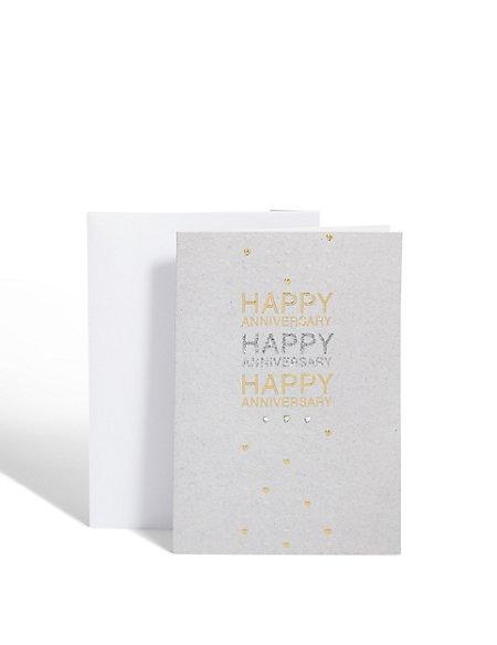 Glitter Text Anniversary Card