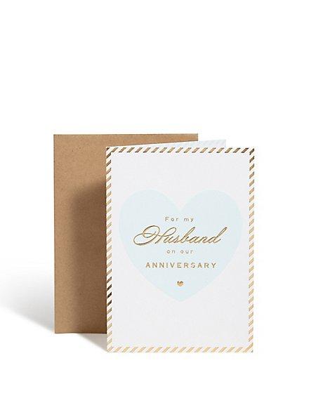 Classic Husband Anniversary Card