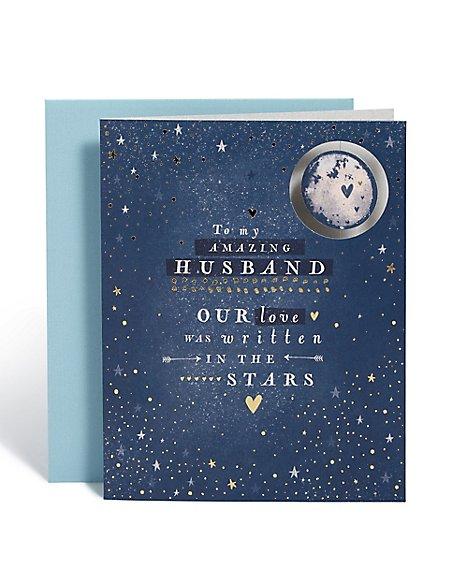 Anniversary Husband Moon Star Card