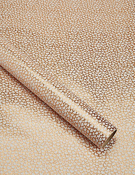 Copper Hearts 2m Wrapping Paper