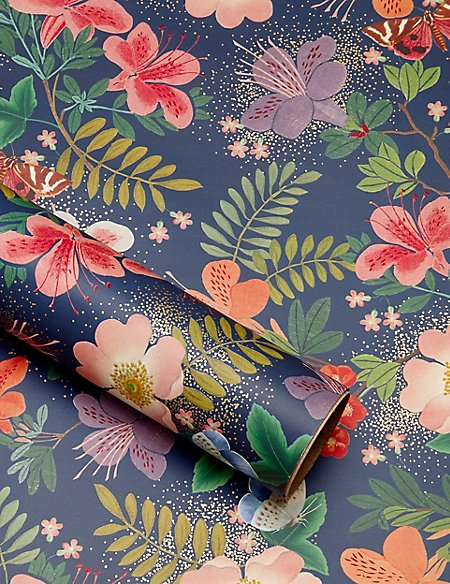Floral Print 2m Wrapping Paper
