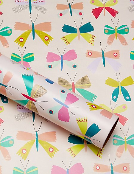 2m Butterfly Wrapping Paper